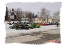 Snowmobiles in Anamoose